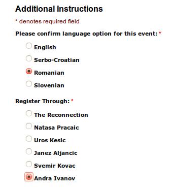 Cum se face inscrierea la Evenimenul din Belgrad - Reconnection® (Reconectarea) 2014